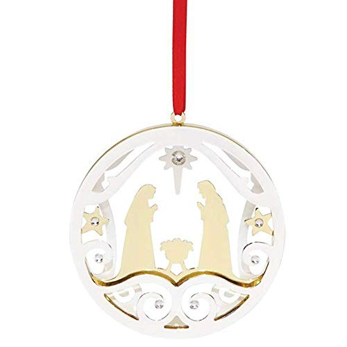 Lenox Silver Ornaments Stamped Metal Nativity