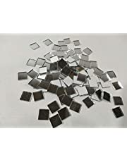 Set of 200pcs Small Square Glass Crafts, Real Glass Mirror Mosaic Tiles 1x1cm