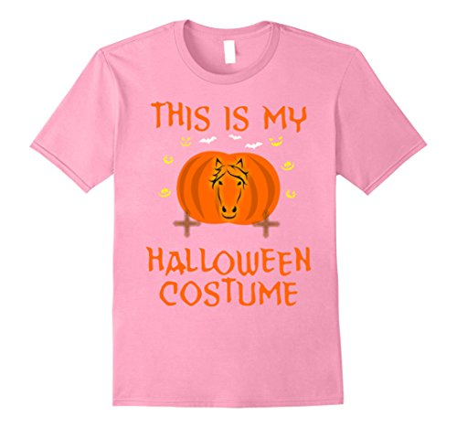 Horse And Rider Halloween Costumes (Mens Cute This Is My Halloween Costume Horse Rider T-Shirt Small Pink)