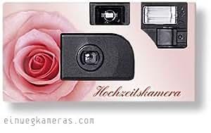 Lote de cámaras desechables para bodas (10 unidades), color rosa