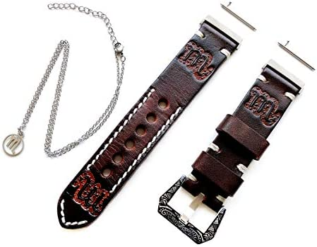 NICKSTON Scorpio Zodiac Set Genuine Brown Leather Crafted ...