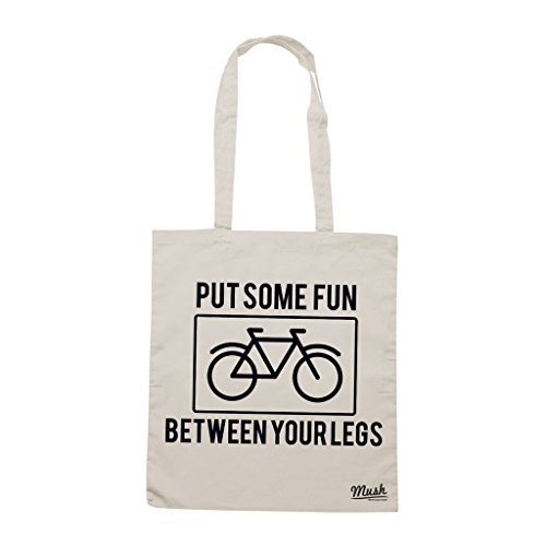 Borsa BIKE LOVERS PUT SOME FUN BETWEEN YOUR LEGS - Sand - MUSH by Mush Dress Your Style