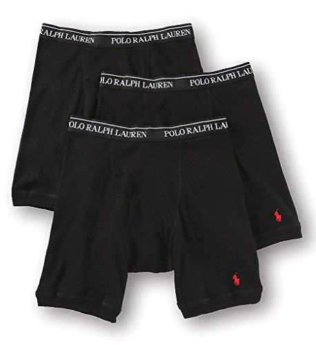 (Polo Ralph Lauren Classic Fit Cotton Long-Leg Boxer Brief - 3 Pack (LCLB) XL/Black)