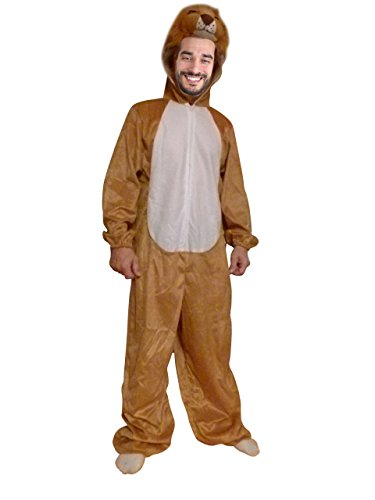 Mens Lion Costume Ideas (Fantasy World Lion Costume Halloween f. Men and Women, Size: XL / 16-18, An73)