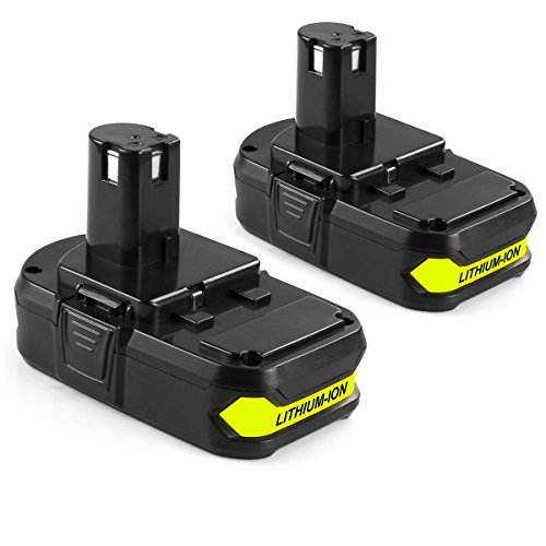 Surepp 18V 2.5Ah Capacity Lithium Ion Power Tools Battery Replacement for Ryobi P102 P103 P104 P105 P106 P107 P108 (2packs)