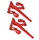 WennoW 2 Pack - Load Binder Pull Lever 1/4 Inch Chain Hook Tie Down Rigging Equipment