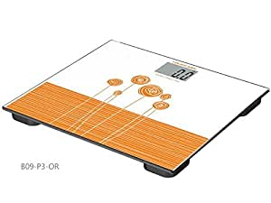 Loease B16-BK Tempered Glass Digital Bathroom Scale with LCD Display, 180kg. Capacity, Perfect for Weight Regulation at Home or In the Gym, Fits Easily Beneath Bathroom Counter,¡­