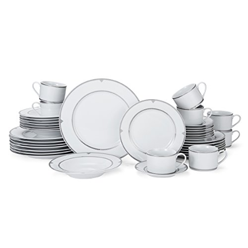 Mikasa Regent Bead 40-Piece Porcelain Dinnerware Set, Service for 8 by Mikasa (Image #2)