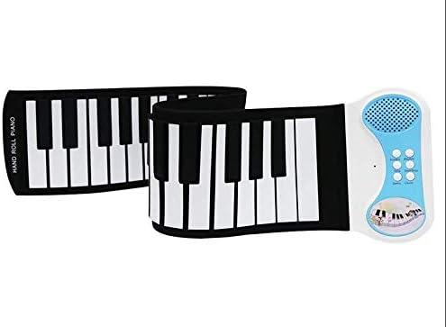 PN49Sポータブル楽器折りたたみ49キー電子ロールアップピアノキーボード