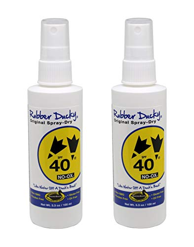 Rubber Ducky | SPF 40 original spray-dry Sunscreen - oil-free, oxybenzone-free, reef-safe - 3.3 ounce spray - set of 2 -