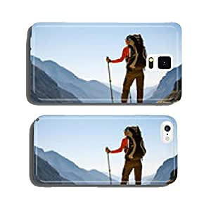 Hiker on the trek in Himalayas, Khumbu valley, Nepal cell phone cover case iPhone6 Plus