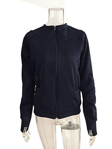 Donna Blu Parka Felpe Coco Autunno Manica Giacche Con Lunga Cappotti Casual Tops Cappuccio Clothing Hoodie College Sport A nvIvxqZTw