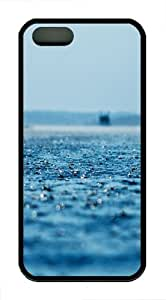 iPhone 5S Cases & Covers - Rain on the ocean TPU Silicone iPhone 5S/5 Case Back Cover - Black