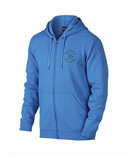 Oakley Men's Blue Round Up Fleece Full-zip Hoodie, Size - Clothing Oakley Discount