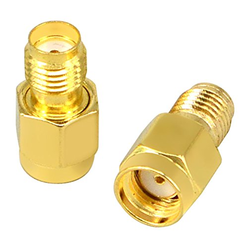 FPV Adapter SMA Female to Reverse Polarity SMA Male Antenna Coaxial Adapter Coupling Nut for FPV Drone 0-3G RF Application Wi-Fi Antenna SMA Connector Pack of 2 -