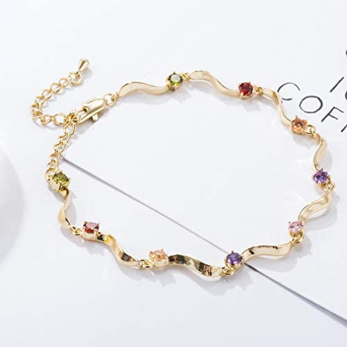 AMDXD Anklets for Beach Gold Plated Mesh Oval Anklets Chain Summer Jewelry for Teens Gold 21CM