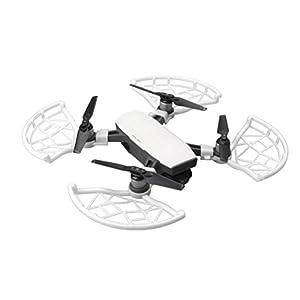 For DJI Spark Drone,Elaco New 4pcs Props Propeller Guard Bumper Blade Crash Protector (White)