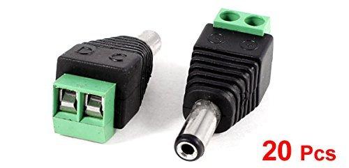 Amazon.com: eDealMax Conector Cable Terminal 20 piezas Negro Verde ...