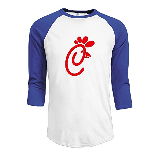 Men's 3/4 Chick Fli Bird Sleeve Raglan T-Shirt RoyalBlue Large