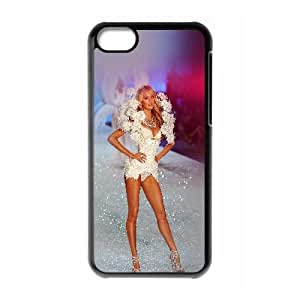 Hf71 Victoria Secret Mostrar Modelo Sexy Arte llamarada iPhone 5C caja del teléfono celular funda Negro caja del teléfono celular Funda Cubierta EEECBCAAJ78519