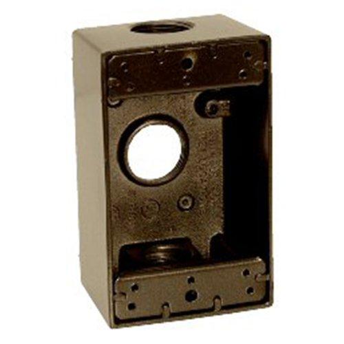 Sigma Electric 14252BR 3/4-Inch 3 Hole 1-Gang Box, Bronze