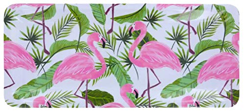 (Palm Tree Leaves - Tropical Kitchen Melamine Plastic Rectangle Shaped Serving Tray)