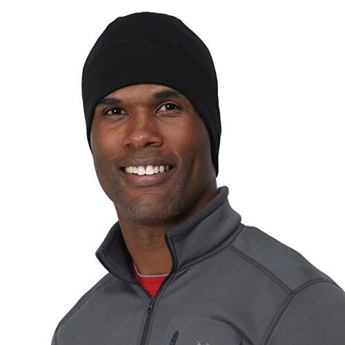 - TrailHeads Men's Power Cap - 4-Way Stretch Skull Cap - Black