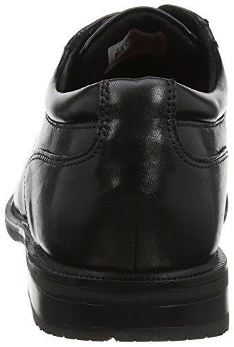 Bike Derby II Hombre Black para Leather Black Negro Cordones Rockport Essential de Zapatos Details Ctwz1Rfqx