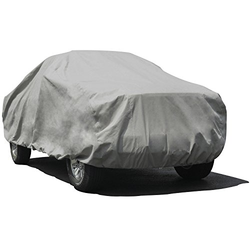 Budge Max Truck Cover Fits Truck with Long Bed Dually Crew Cab Pickups or SUVs up to 22 feet, TMX-8 - (Endura Plus, Gray) (Suv Cab Covers)