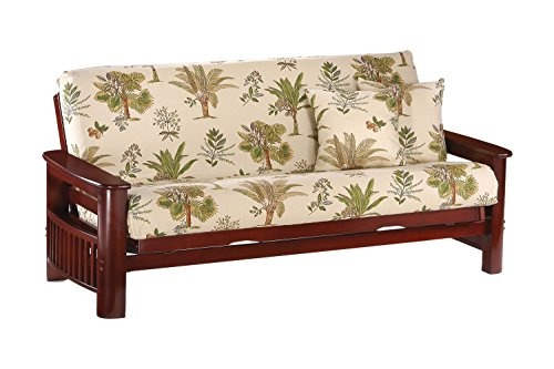 Night And Day Furniture Portofino Chair Futon Frame In Rosewood Finish - Portofino Futon Chair Frame