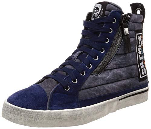 Men's Diesel D Patch Peacoat Blue Velows Sneaker Mid 1gTdgqw