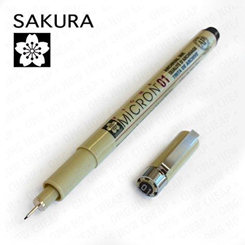 Sakura Pigma Micron - Pigment Fineliners - 0.1mm - Black [Box of 12] by Pigma (Image #1)