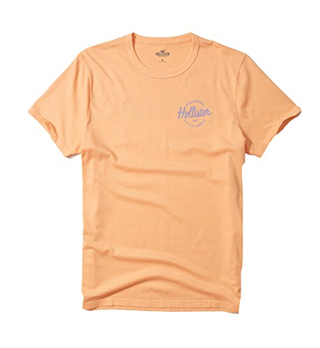Hollister Men's Tee Graphic T-Shirt V Neck (M, Orange 0404)
