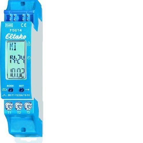 Eltako 4407476 Bus-Schaltuhr RS485 mit Display 8-Kanal FSU14