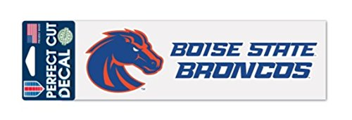 (WinCraft NCAA Boise State Broncos 3 x 10 inch Perfect Cut Decal)