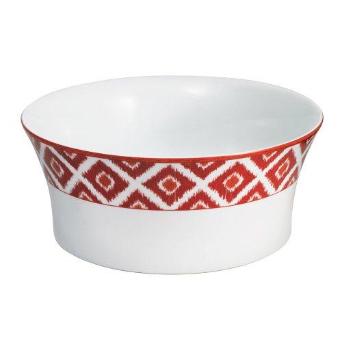 Mikasa Round Vegetable Bowl (Mikasa Ikat Red Round Vegetable Bowl,)