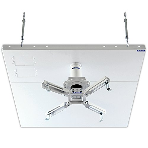 QualGear Pro-AV QG-KIT-S2-3IN-W Projector Mount Kit Accessory Suspended Ceiling 2'x2' Adapter, White (Projector Accessories)