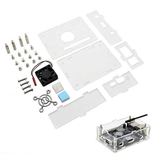 Arcylic Case + Cooling Fan + Heat Sink Kit for PC / PC2 / PC - Fan Thermal Orange Case
