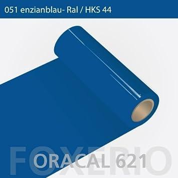 Your Design Klebefolien für Küchenfronten - Oracal 621-63cm Rolle - 10m  (Laufmeter) - Enzianblau, A6oracal-621-10m-63cm-18-kl