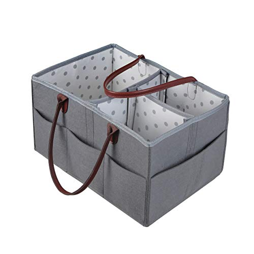 Diaper Caddy, Cleaning Caddy, Doll Container, Crafts Holder, Portable Multipurpose Container (Medium) ()
