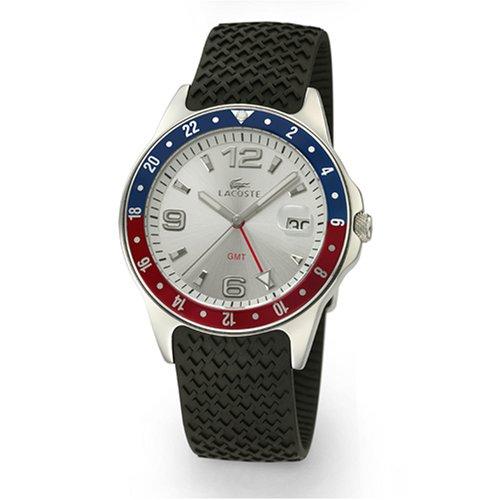 Lacoste 01.1300T.21 - Reloj de caballero de cuarzo con correa de silicona negra