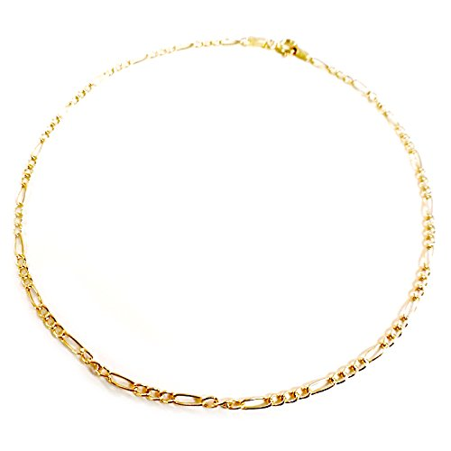 Or 375//1000 Diamantly Chaine de Cheville Or Jaune 9 Carats Fille - Femme