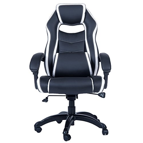 41A6Gifg 6L - Merax Special Cutting High Back Executive PU Leather Swivel Chair