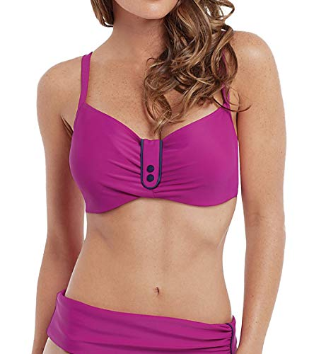 Panache Veronica Underwire Balconnet Bikini Top (SW0642),34JJ,Magenta