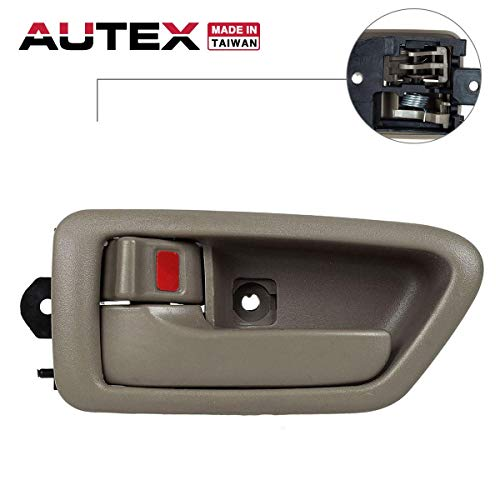 AUTEX Door Handle 91004/91008 Beige Interior Inner Front Left Driver Side Replacement Handle Compatible with Toyota Camry 1997 1998 1999 2000 2001 - Handle Door Inside 01