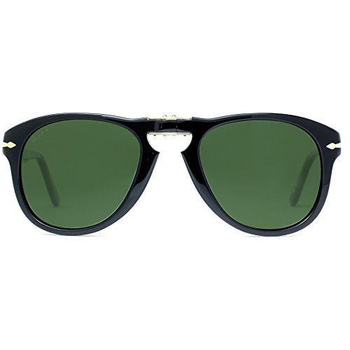 Persol PO0714 Foldable Polarized Sunglasses. Color Black (95/58). Black - Po0714 Persol