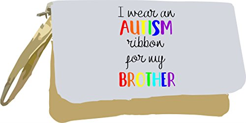 I Autism Clutch Bag for Wear Gold Metallic Brother an Ribbon My Silver rHqn6ZwrAx