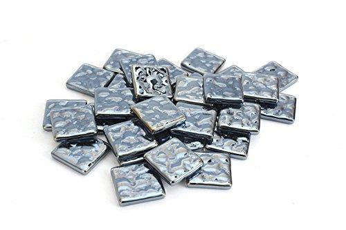 Milltown Merchants 3/4 Inch (20mm) Metal Bubble Mosaic Tile, 3 Pound (48 oz) Bulk Assortment of Mosaic Tiles
