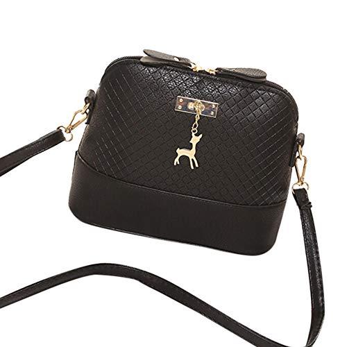 7a4889bbbe6b Sanyalei Women's Vintage Shoulder Bags Leather Cross-body Bag Fashion  Messenger Purse with Deer Decor
