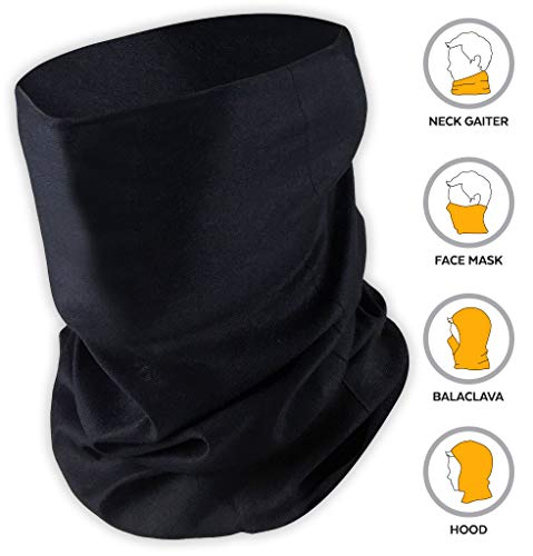 Tough Headband 12-in-1 Headwear - UPF 30 Versatile Outdoors & Daily Headwear - 12 Ways to Wear including Headband, Neck Gaiter, Bandana, Helmet Liner, Balaclava. Performance Moisture Wicking Microfiber ()